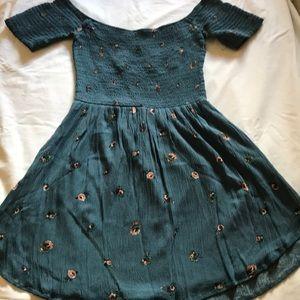 Summer off the shoulder mini dress